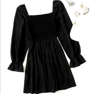 NWT Long sleeve black dress